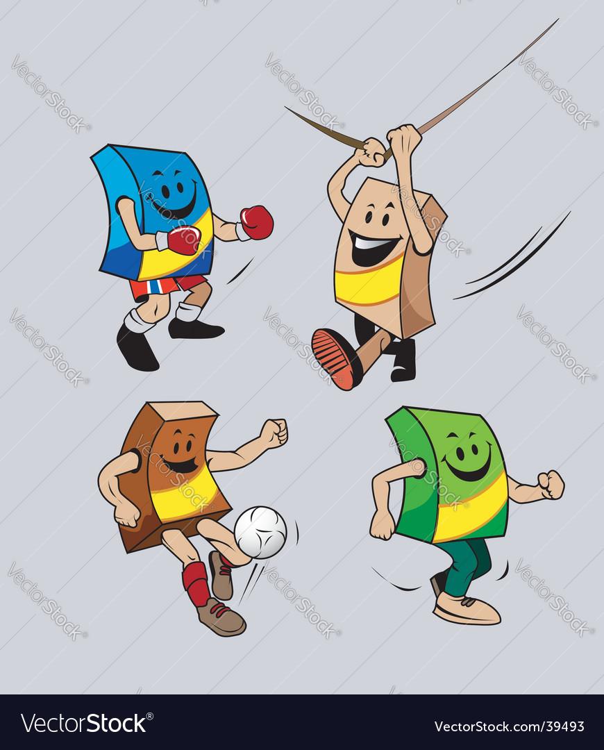 Box mascot vector image