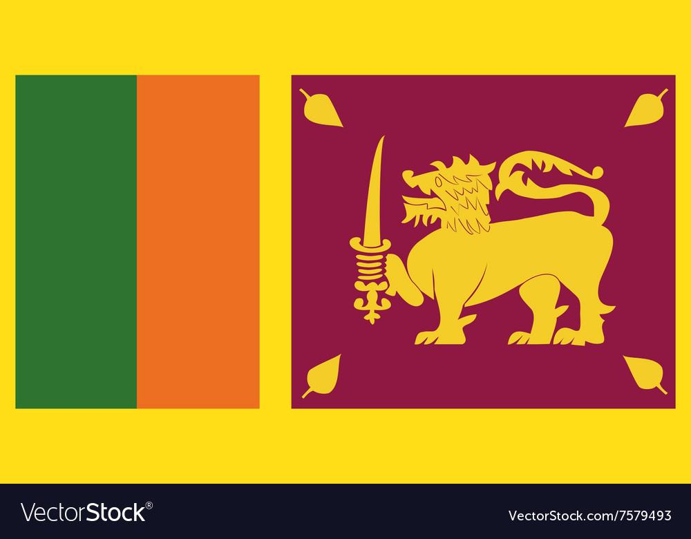 Flag of Sri Lanka vector image