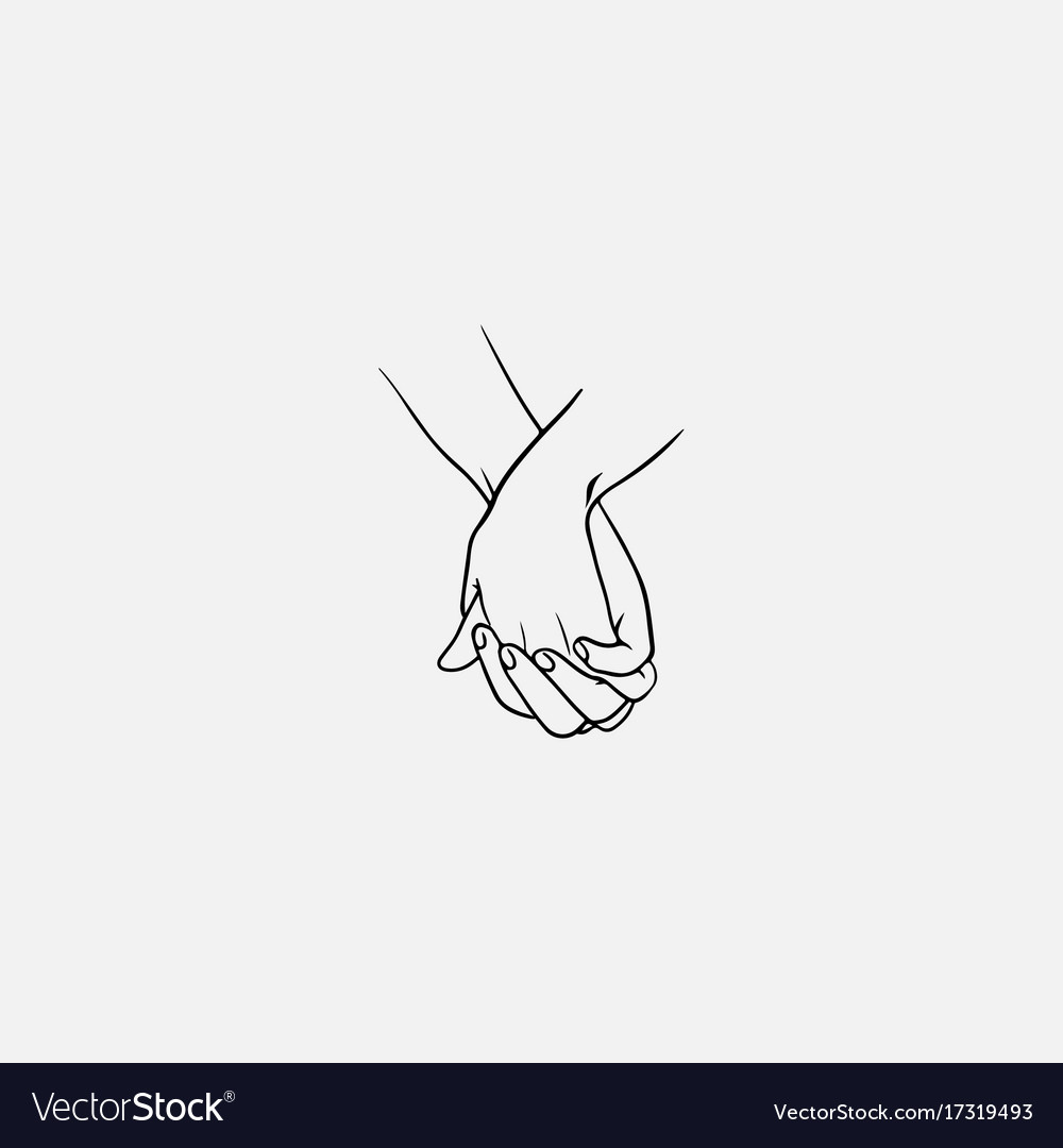 intertwined fingers hand hold