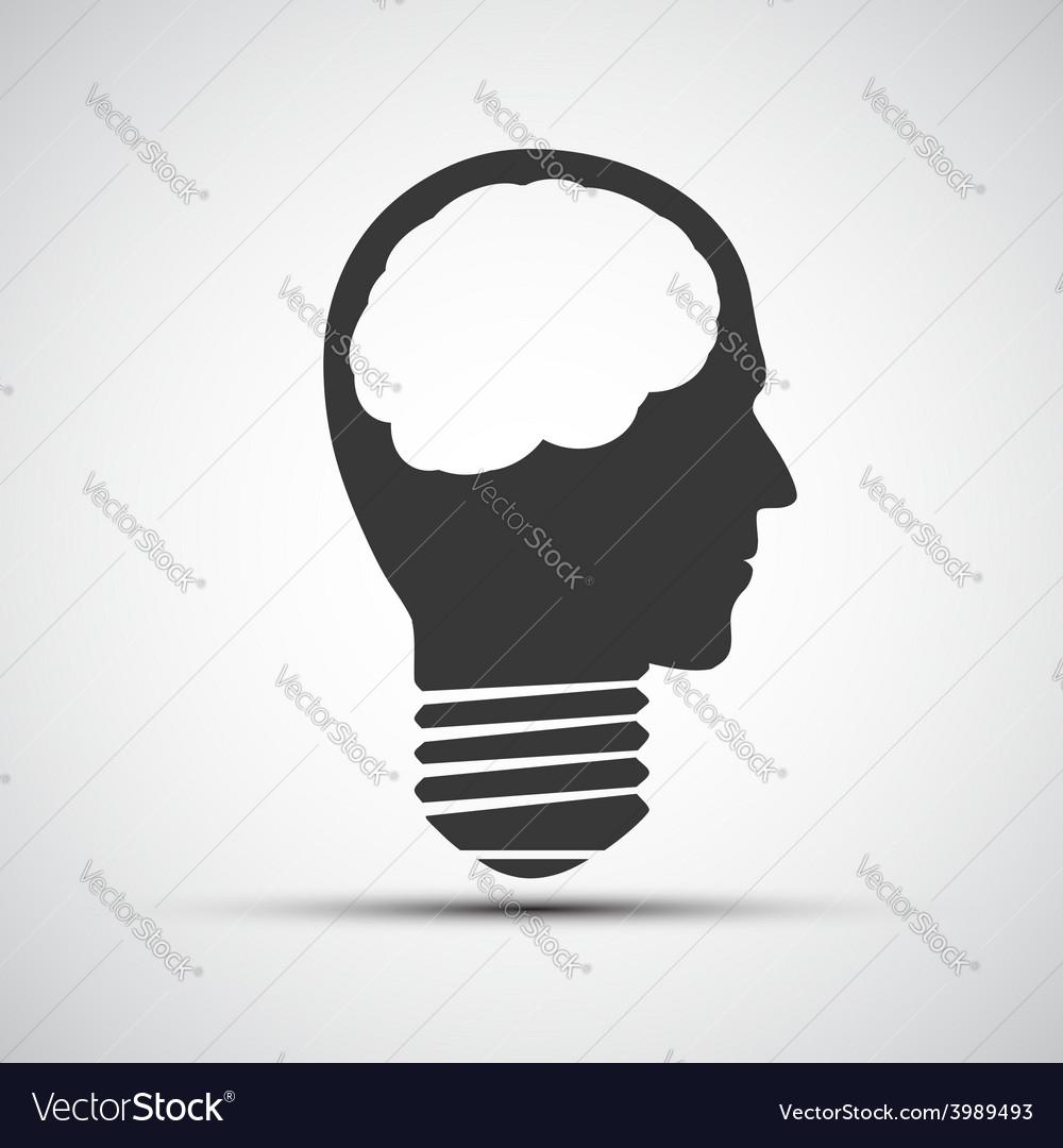 Icons bulb of a human head