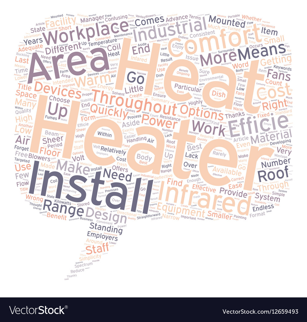 Infrared Heaters text background wordcloud concept vector image