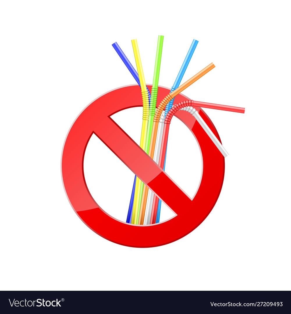 No plastic straws save environment banner protect