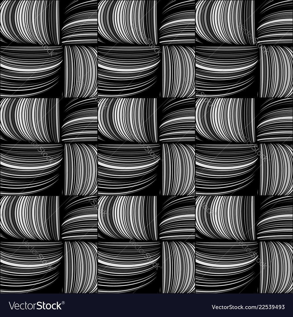 Seamless Pattern Willow Twigs Basket Weaving Vector Image