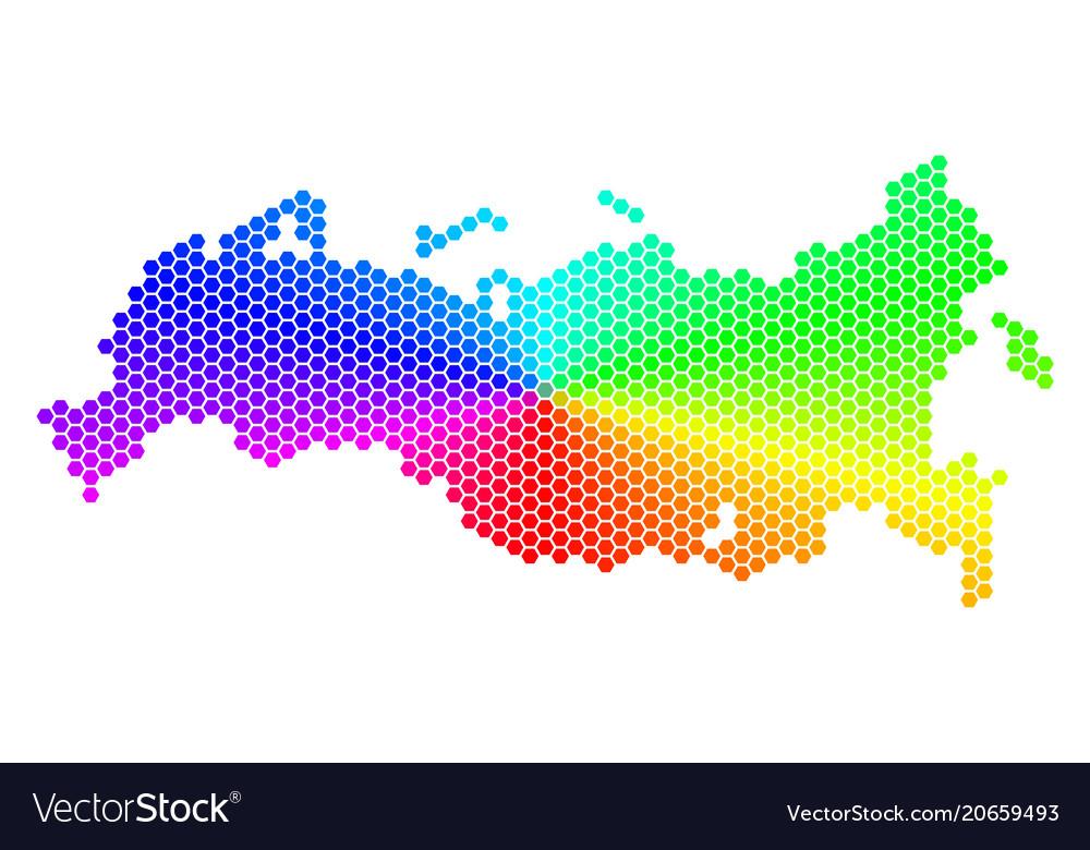 Spectrum hexagon russia map