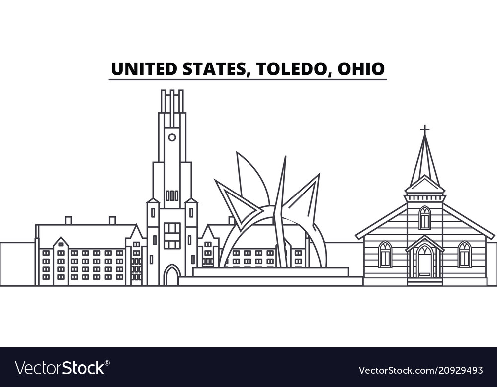 United states toledo ohio line skyline