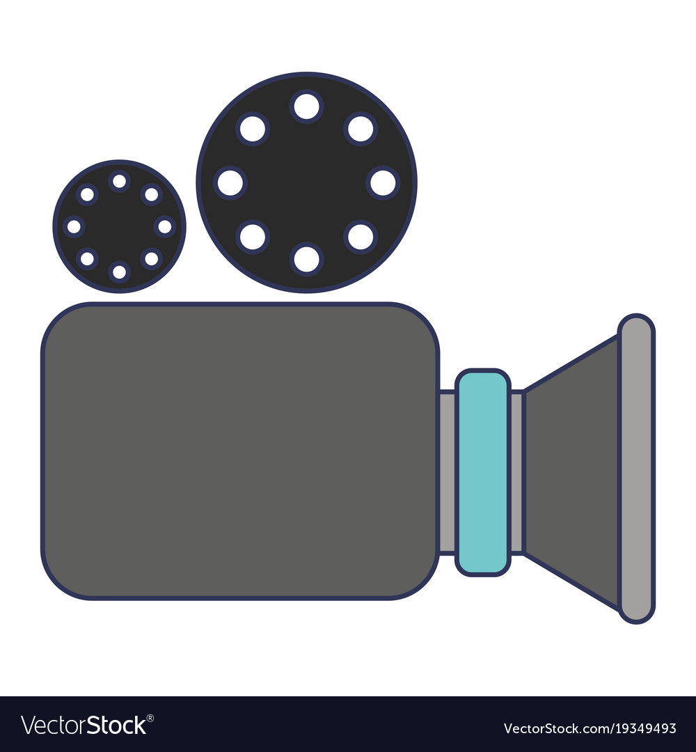 Video camera icon in colorful silhouette