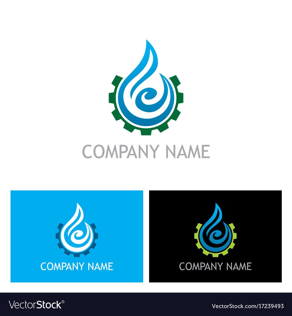 Water drop abstract maintenance logo