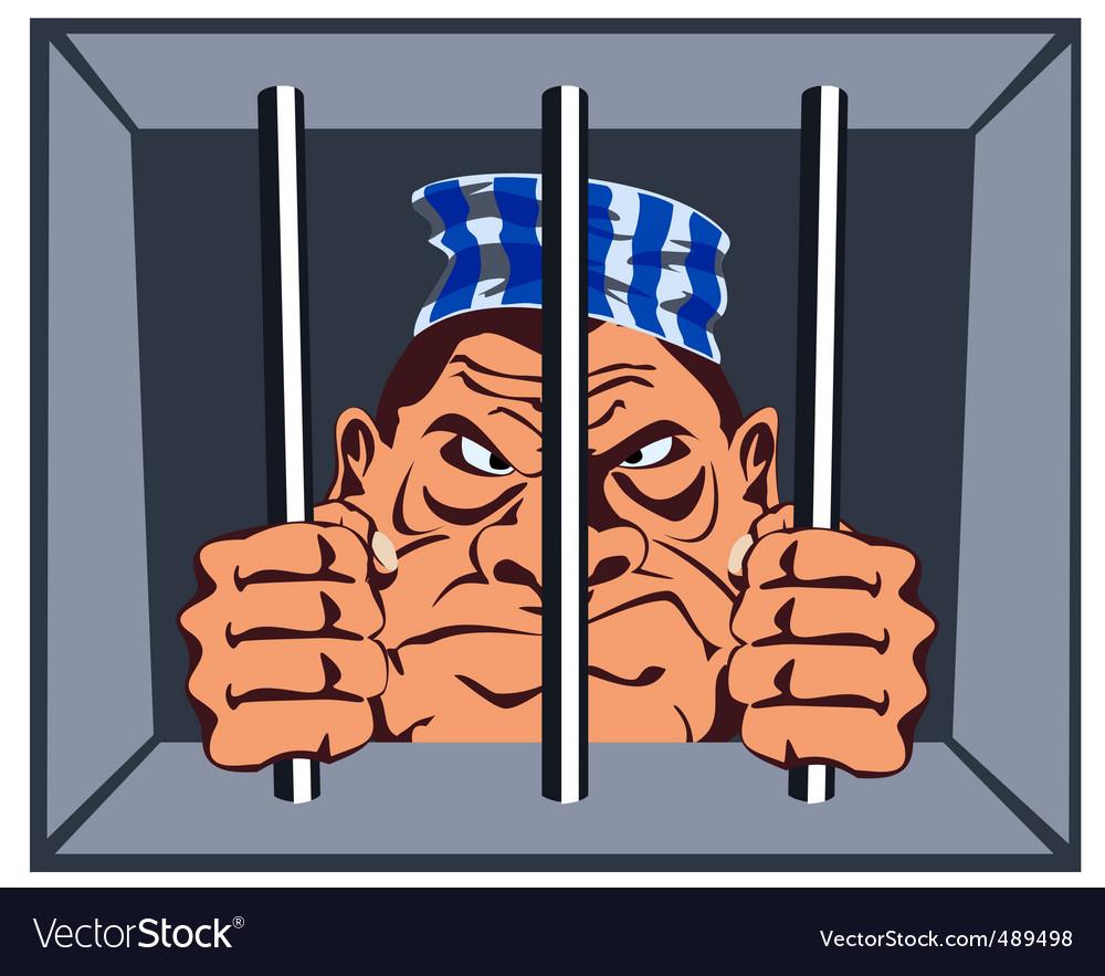 Convict vector image