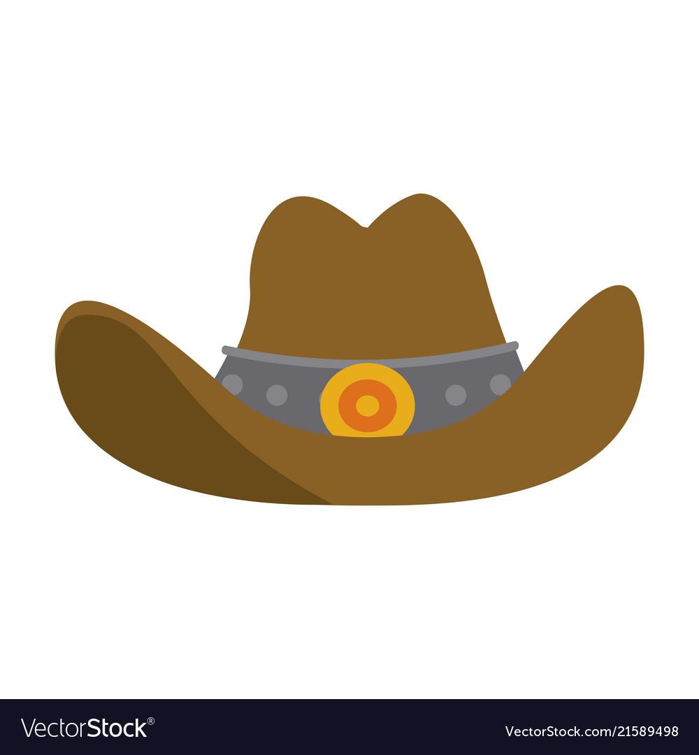 Cowboy Hat Symbol Royalty Free Vector Image Vectorstock