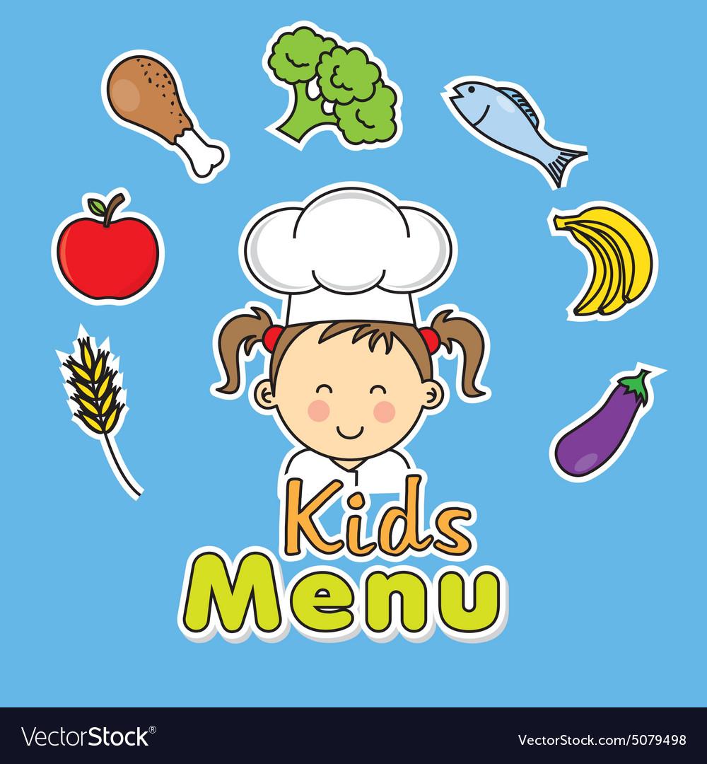 Girl chef vector image