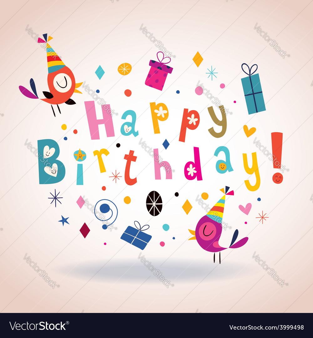 Happy Birthday Card 5 Vector Image