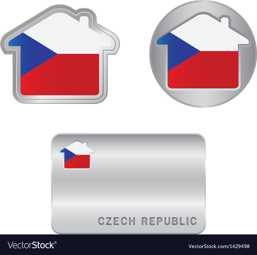 Home icon on the Czech Republic flag