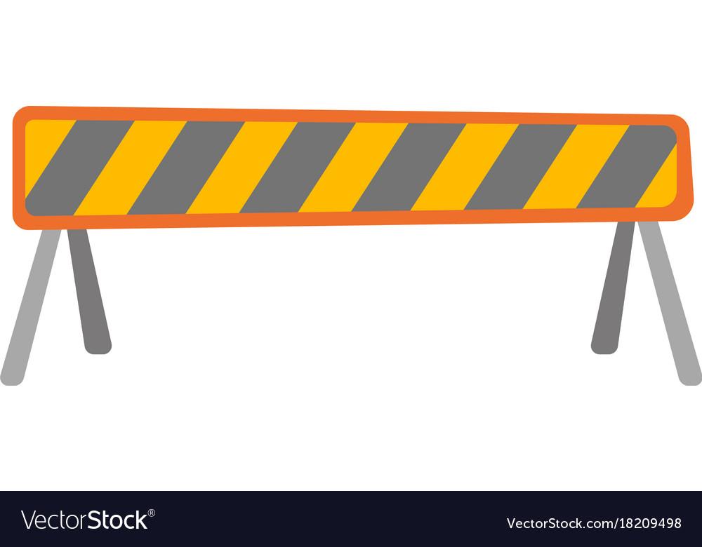 Road barrier cartoon