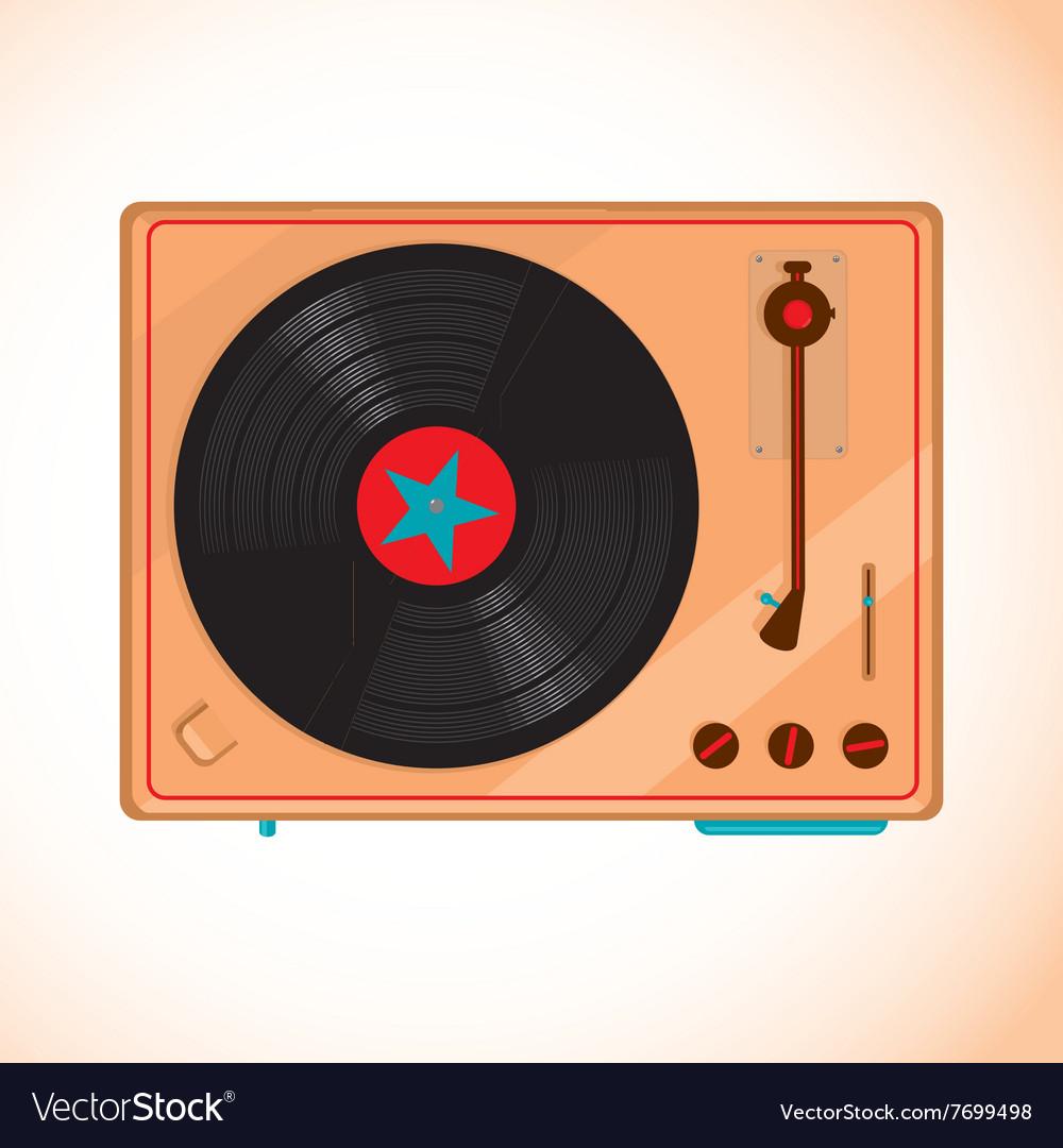 Vinyl records player