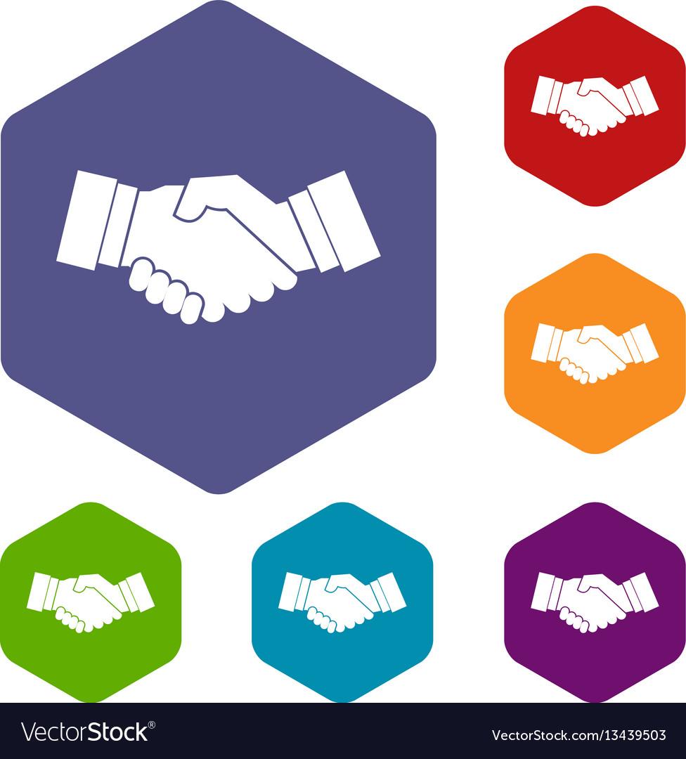 Handshake icons set
