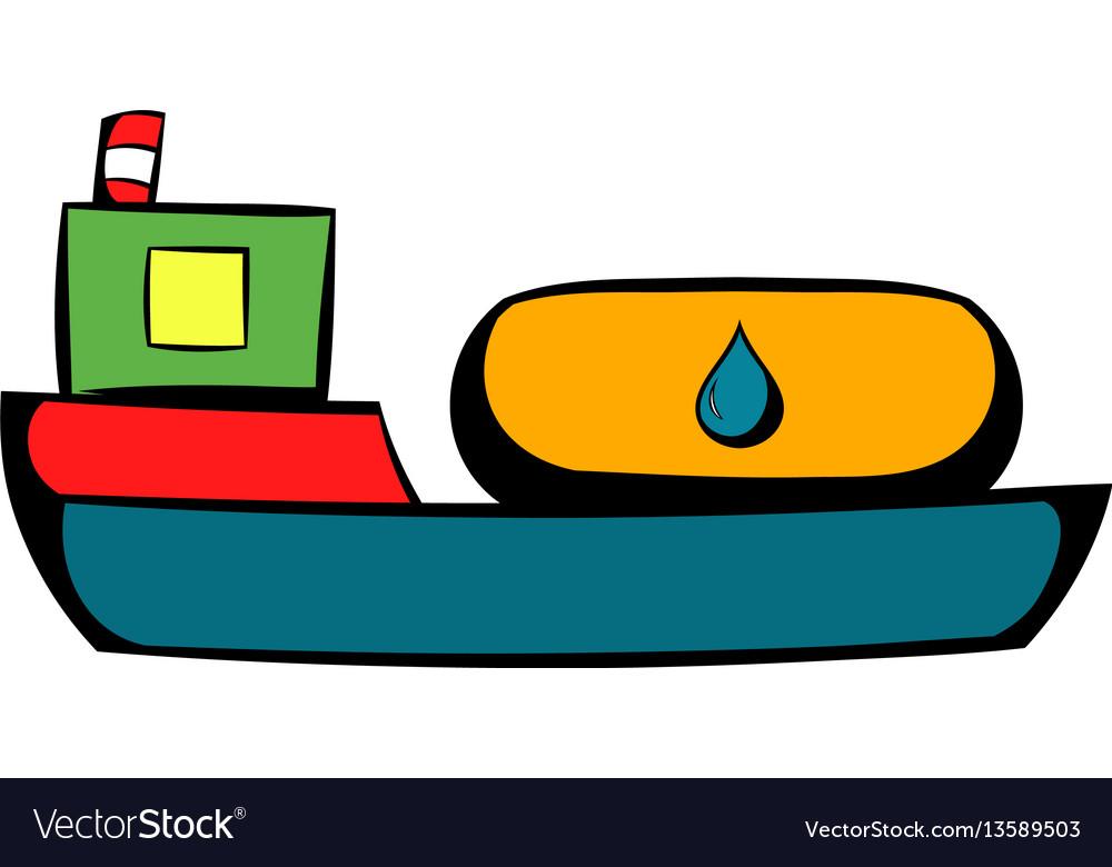 Oil tanker icon icon cartoon vector image