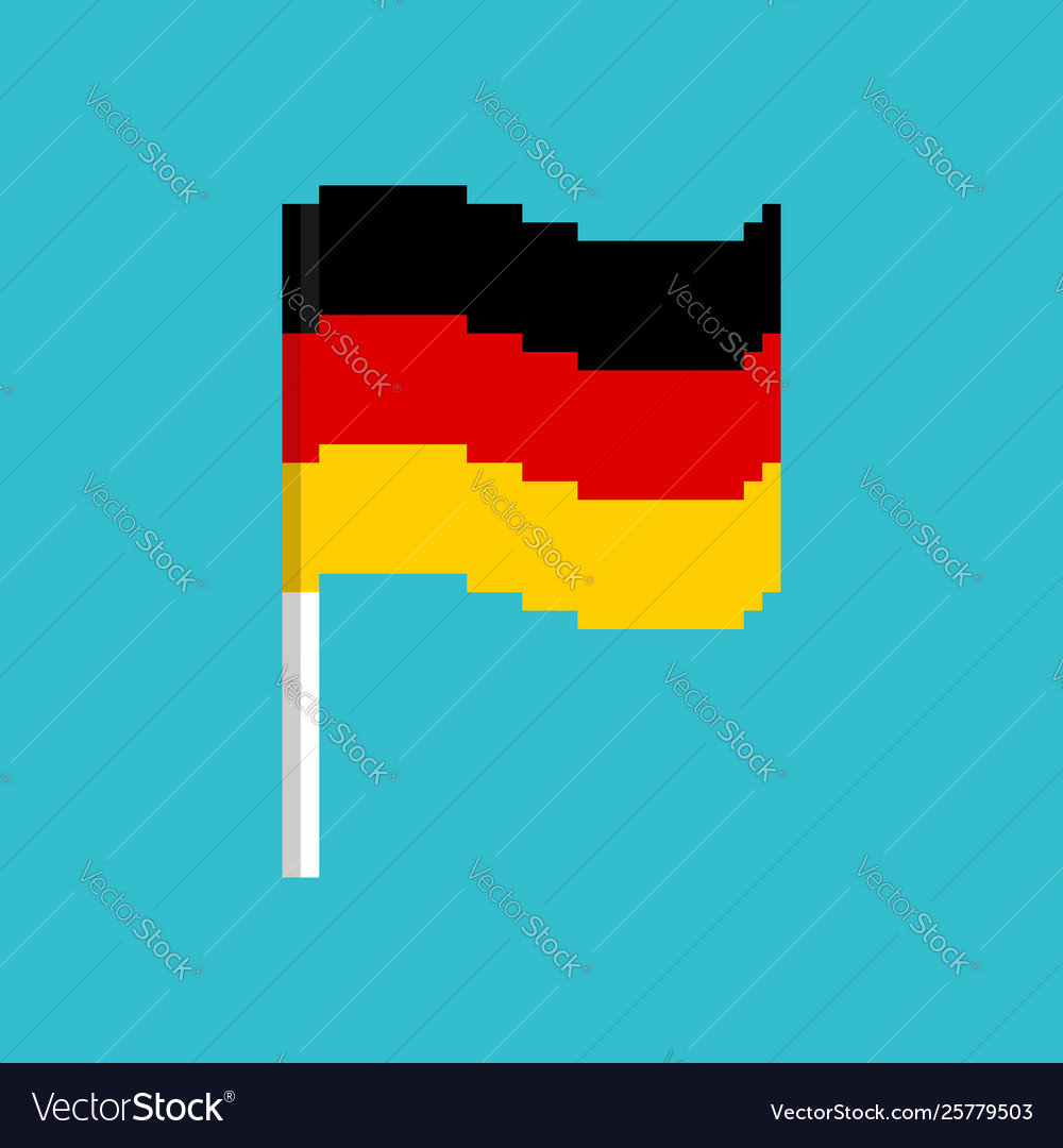 Pixel flag germany pixelated banner german