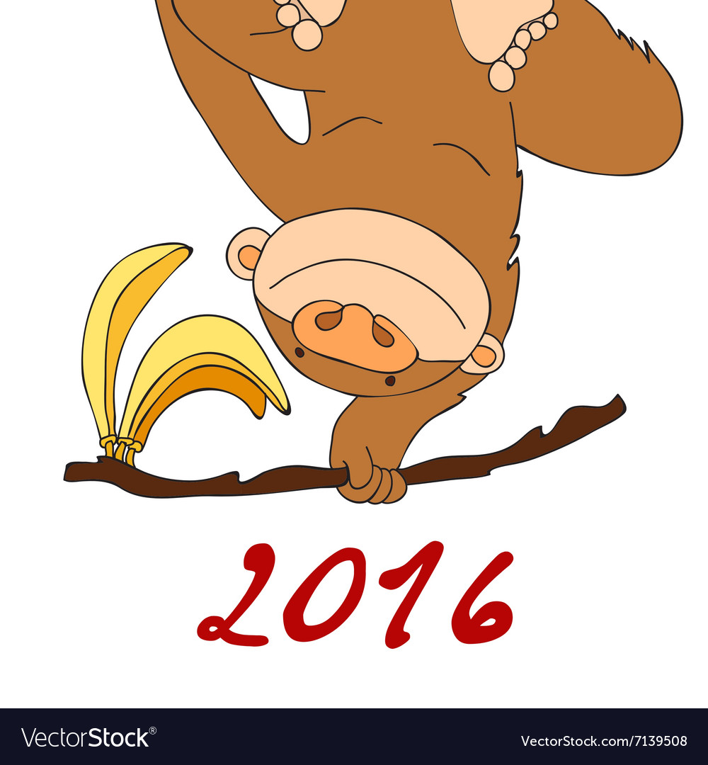2016 Happy New Year of the Chinese Calendar Monkey