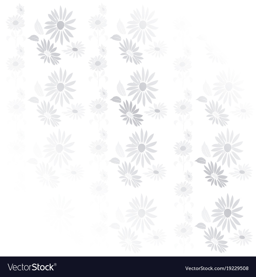 Background vintage flowers in gray and white