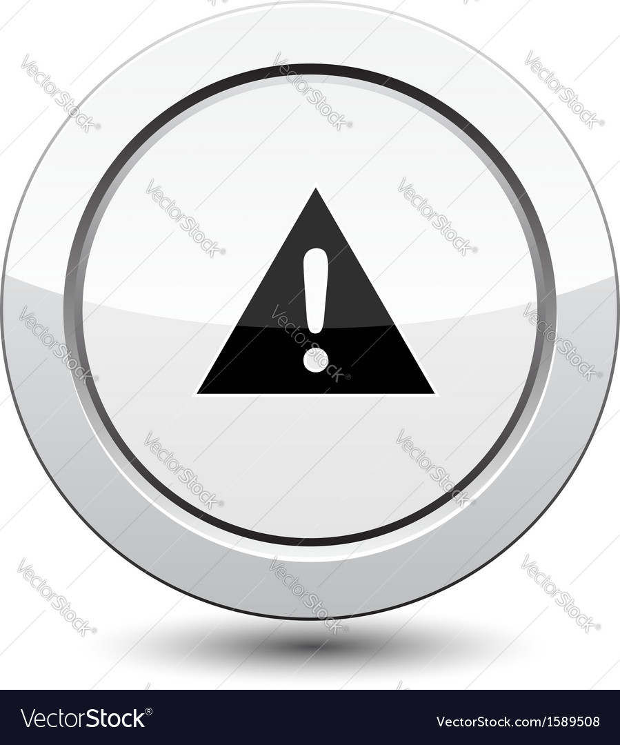 Button with danger sign
