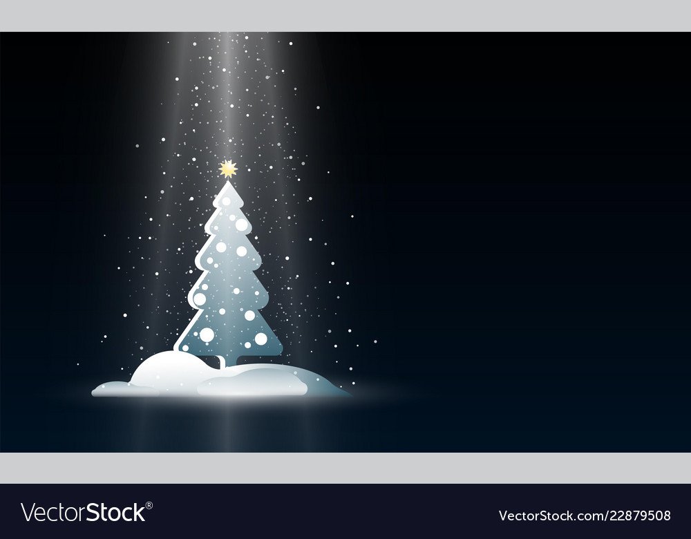 Christmas background with new year tree and