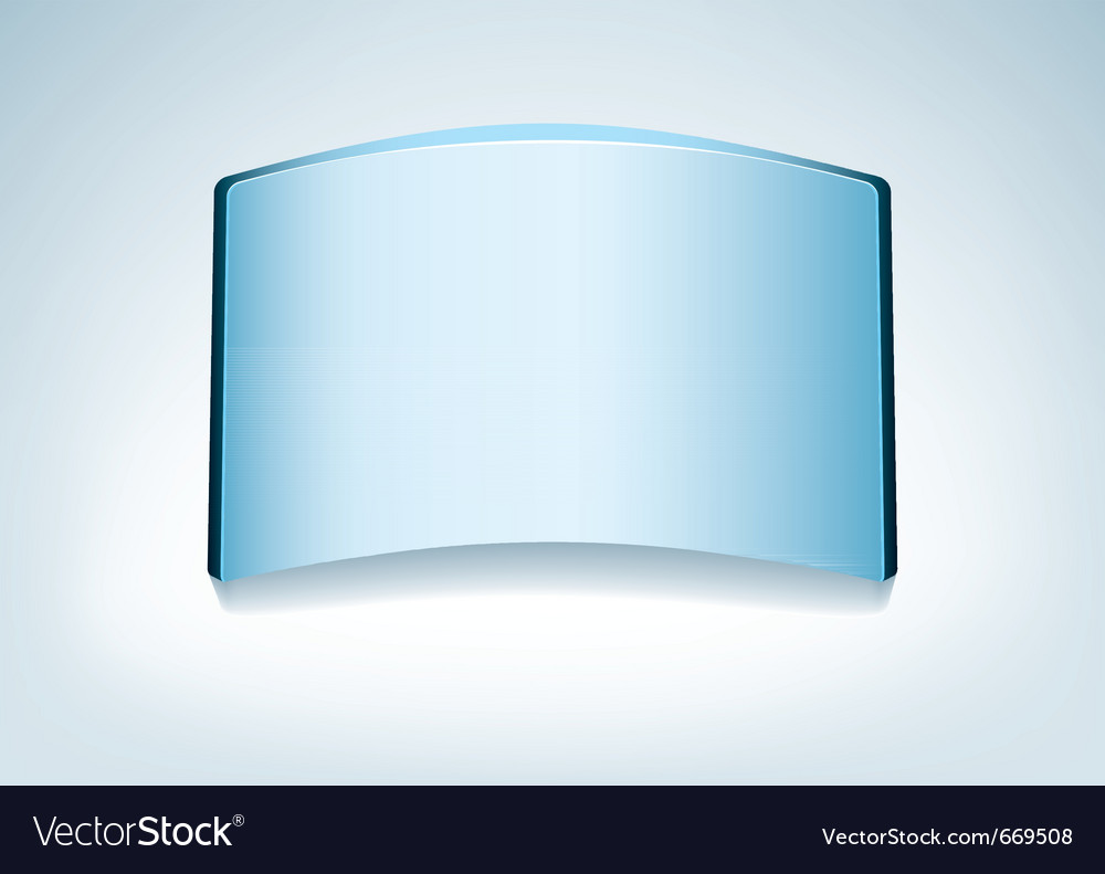Clear glass name vector image