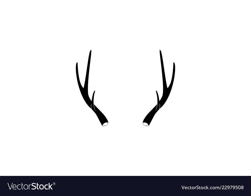Deer huntler logo designs inspiration isolated on