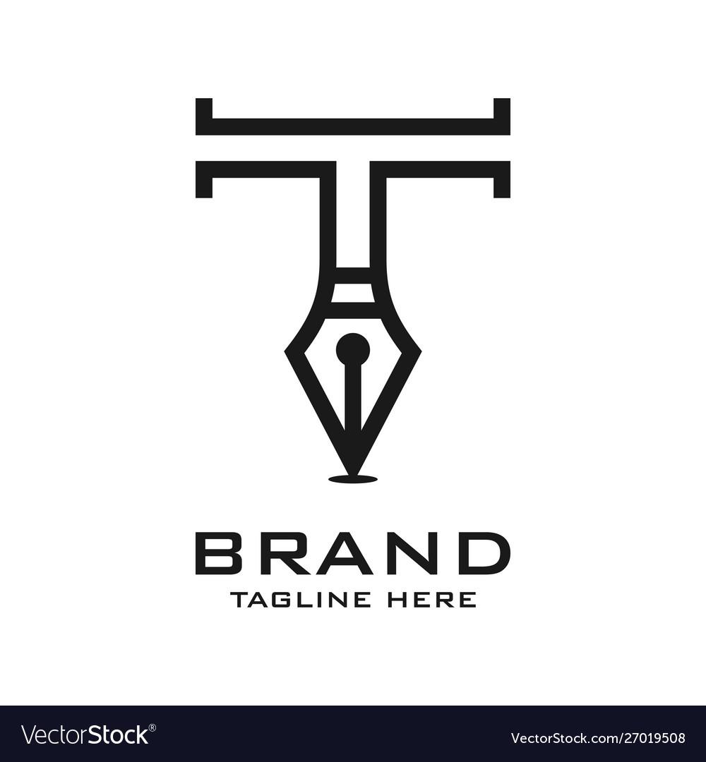 Initial pen logo t
