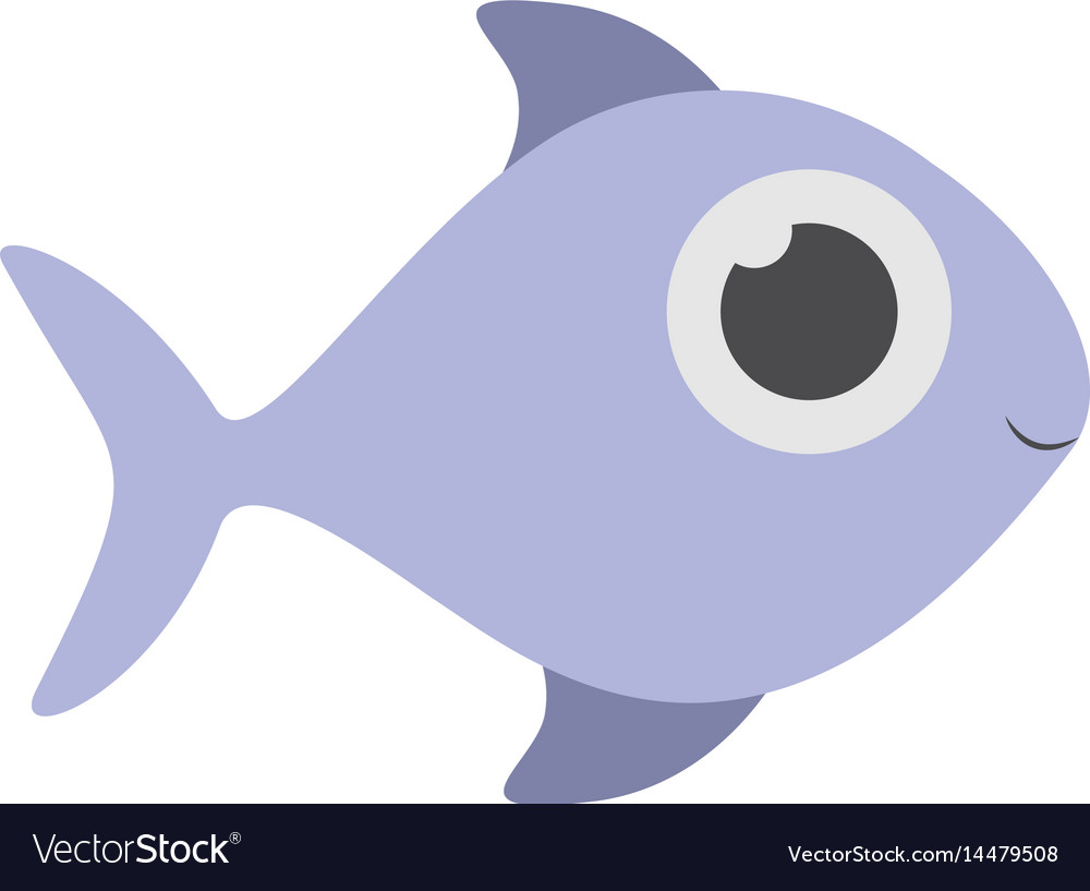 Light colours silhouette of fish without scales vector image