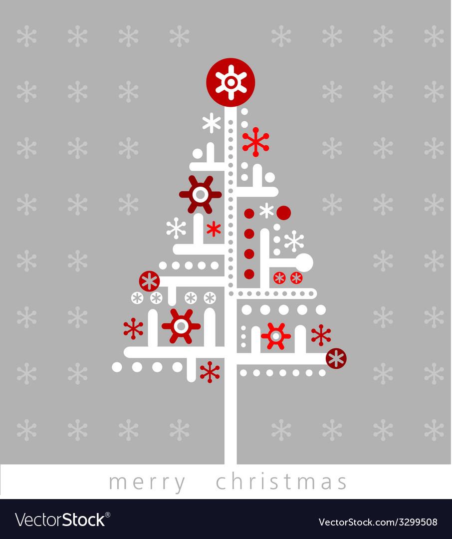 Modern Christmas greeting card Royalty Free Vector Image