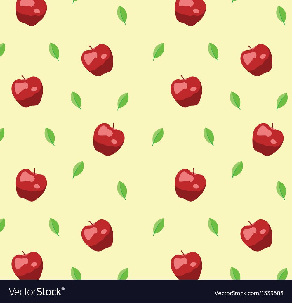 Red apple seamless pattern in retro style