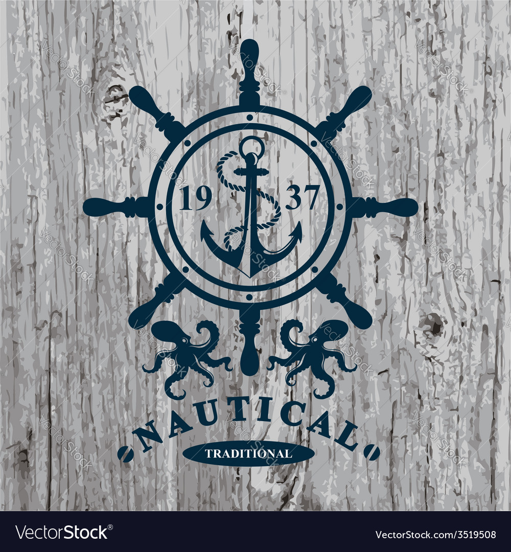 T-shirt design Nautical marine badge design