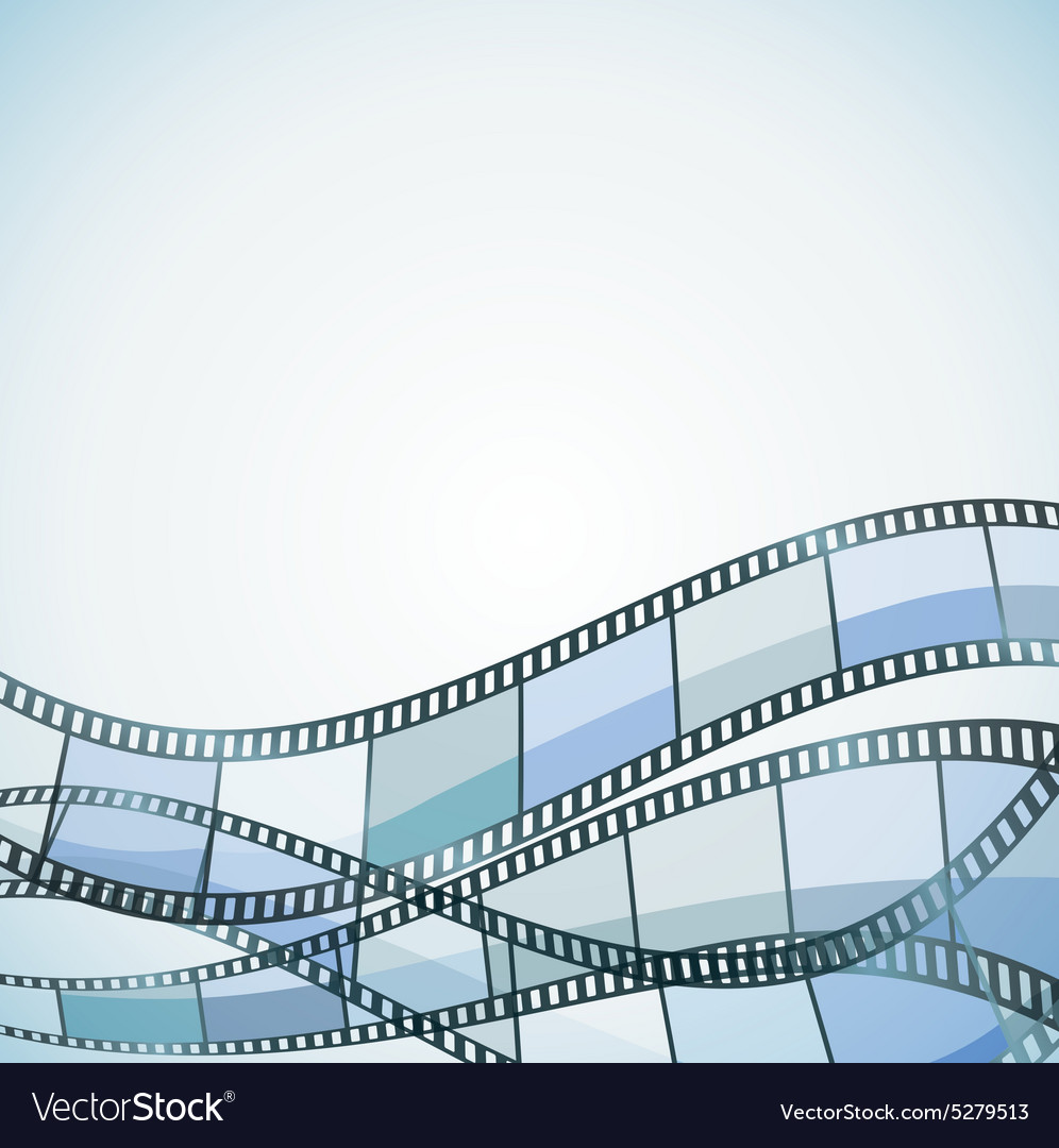 Film background blue retro vector image