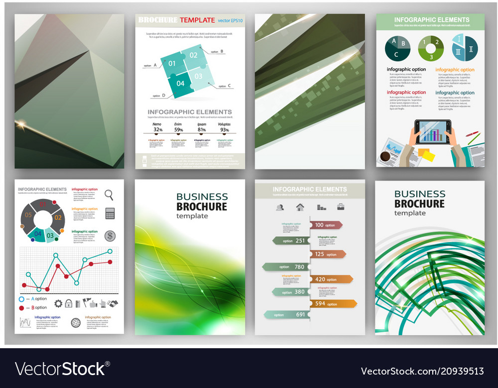 Green creative backgrounds and abstract concept