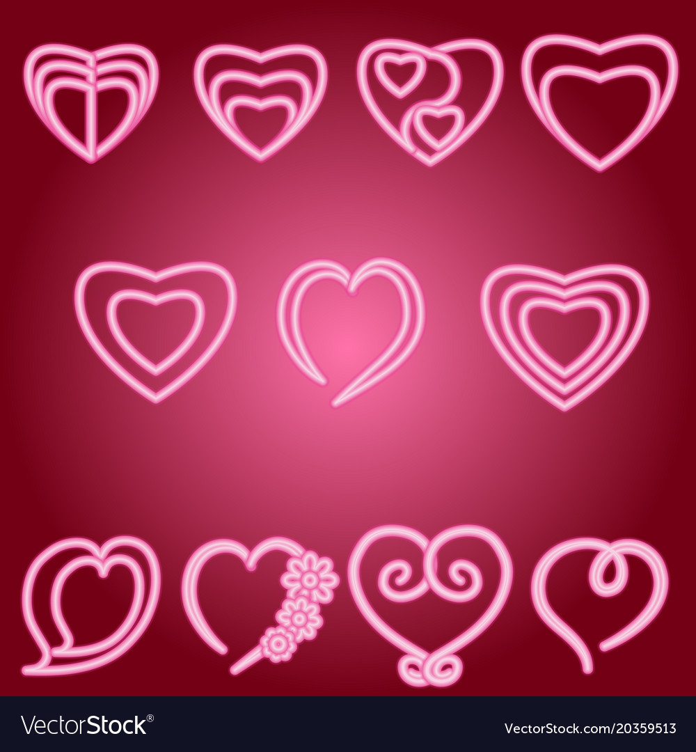 Heart set of icons