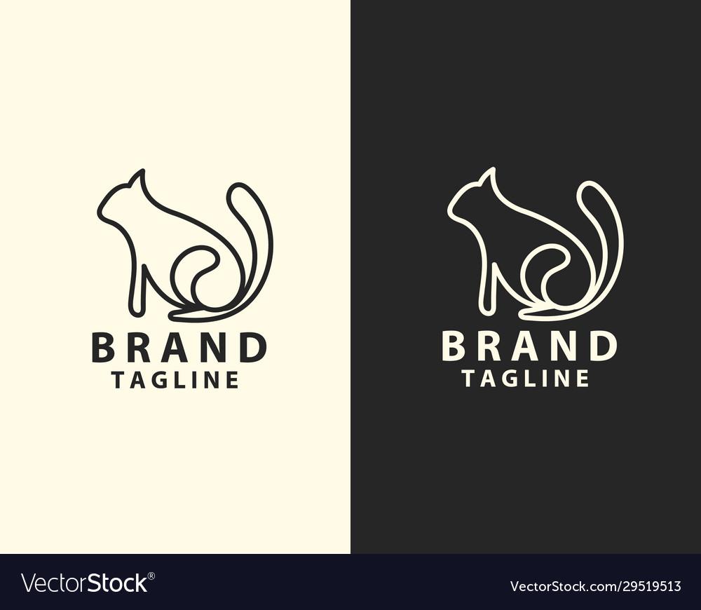 Image an cat line art design