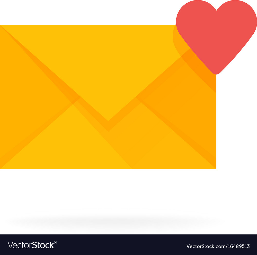 Mail envelope icon with hearts email send message