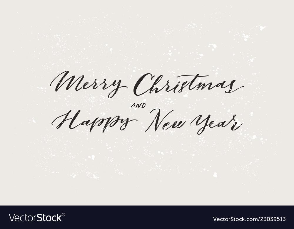Merry christmas xmas badge with handwritten