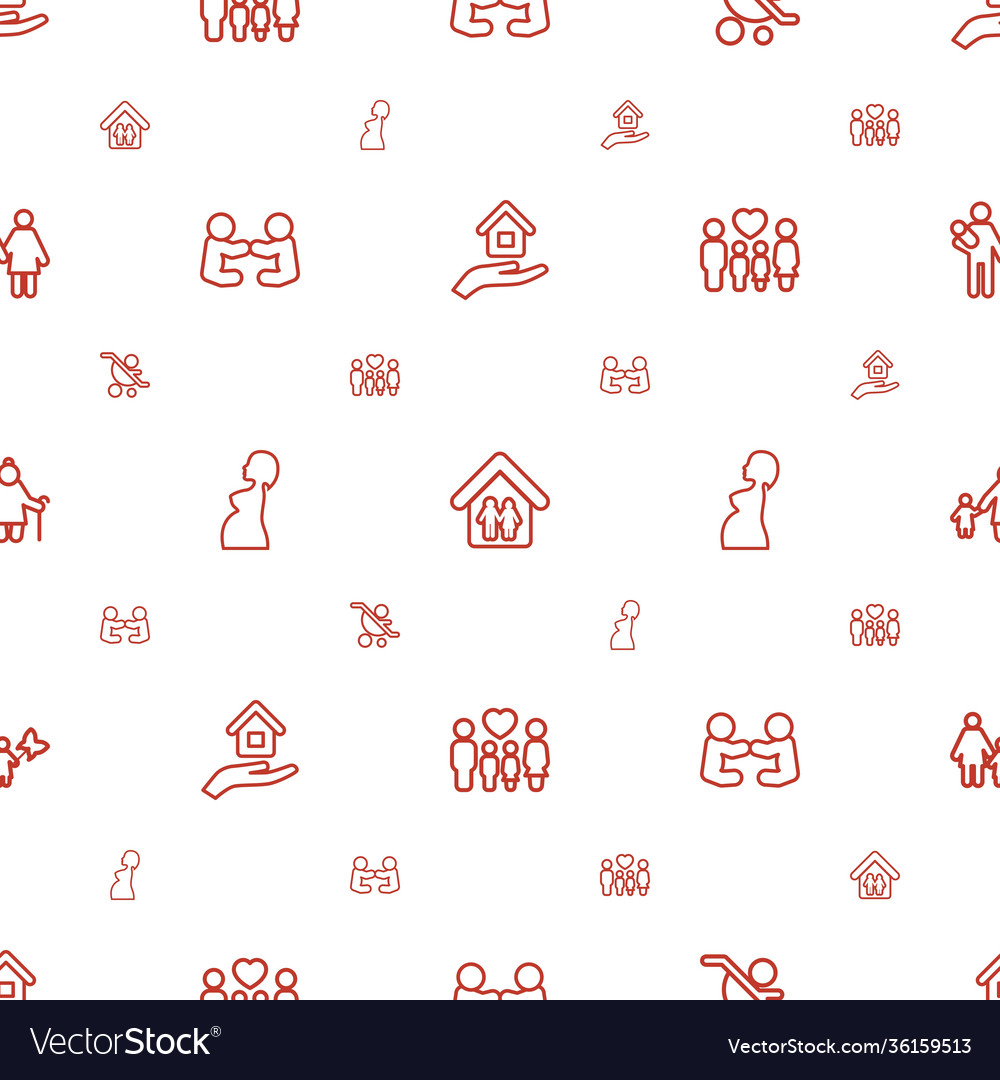 Mother icons pattern seamless white background
