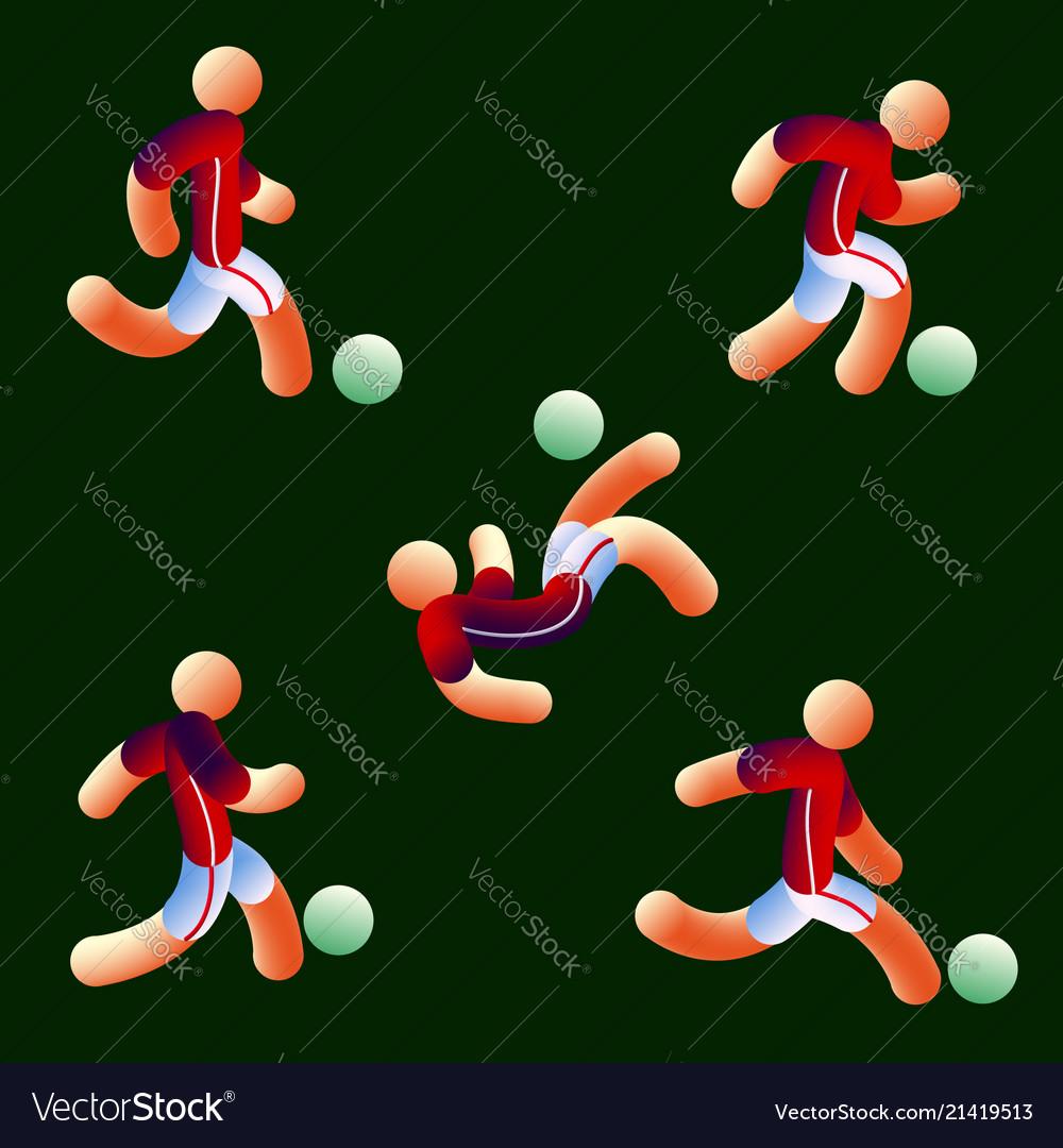 National soccer team style neon light soccer