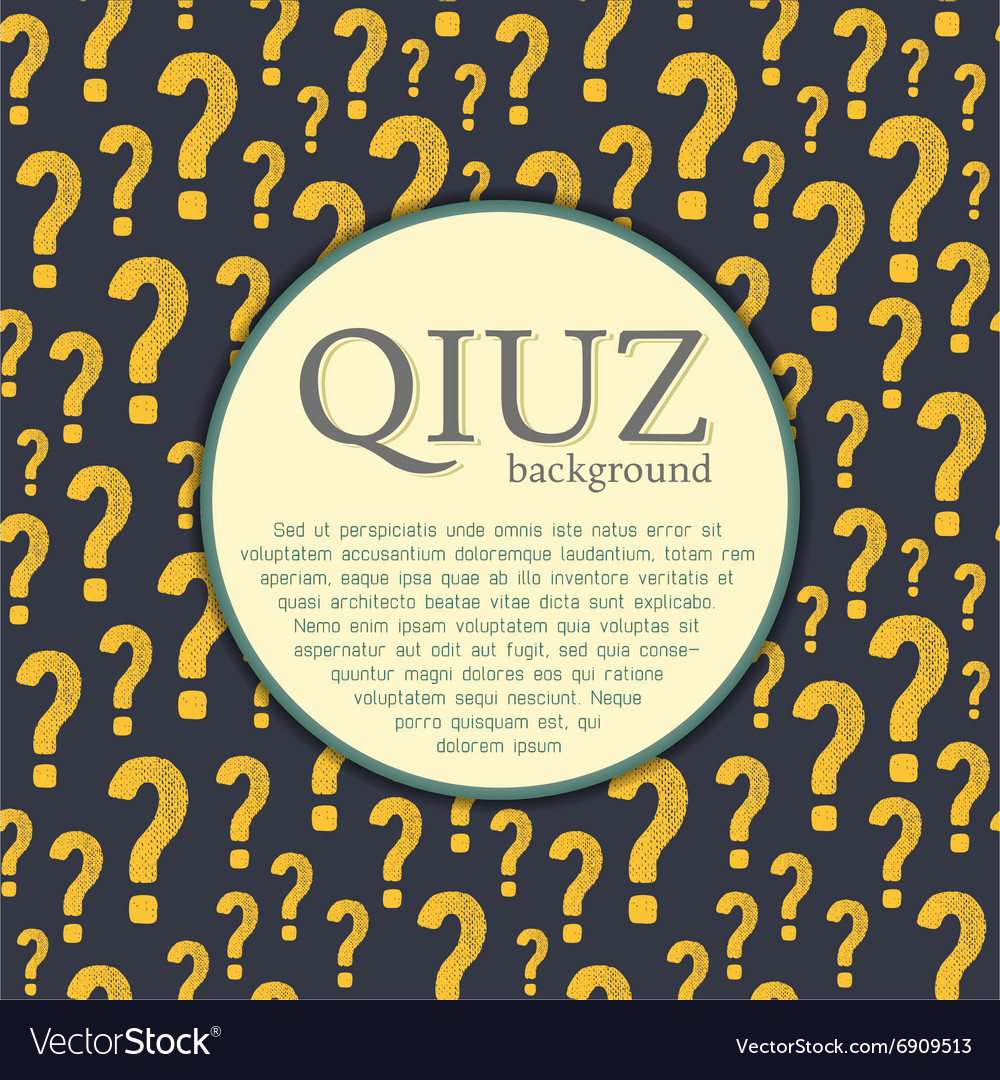 Quiz background Question and answer