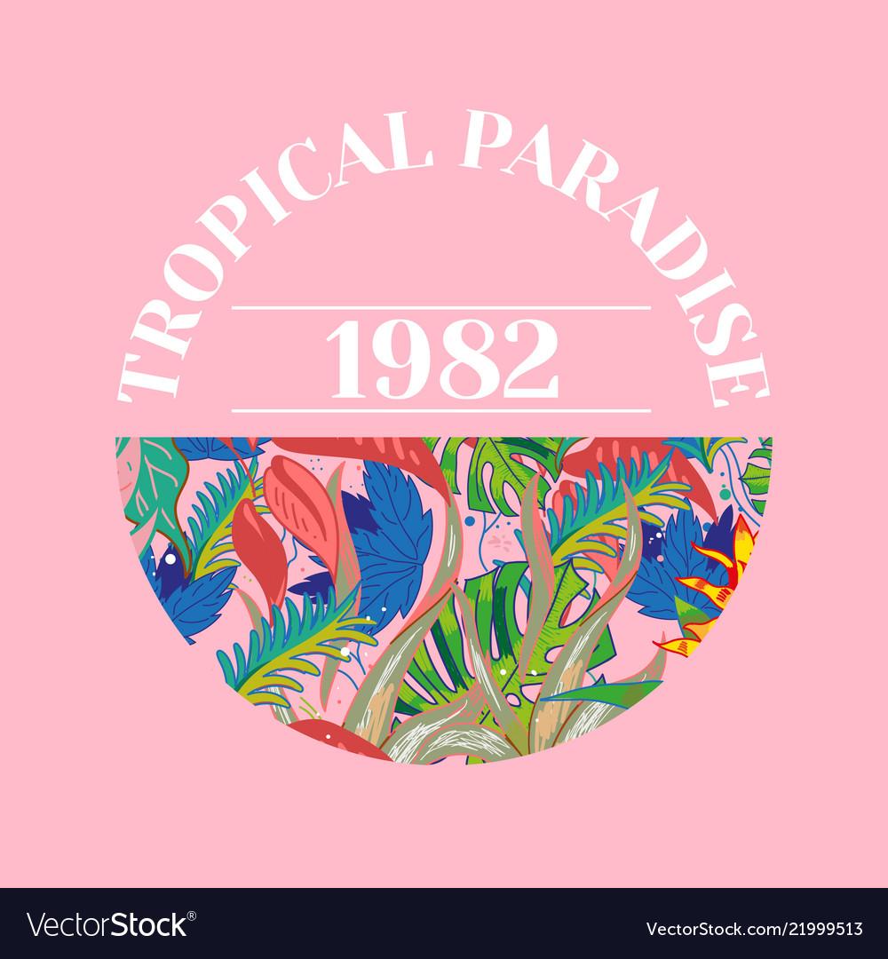 Tropical paradice print