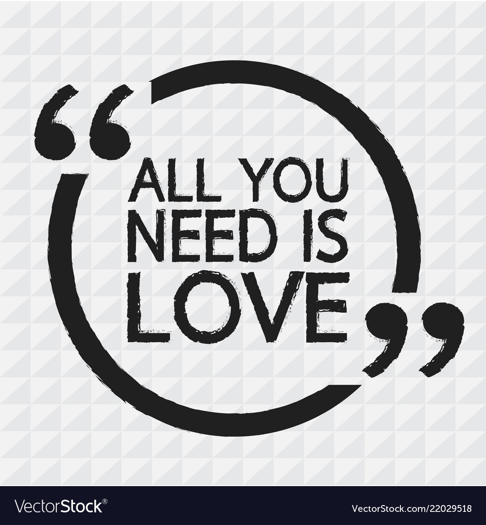 All you need is love design