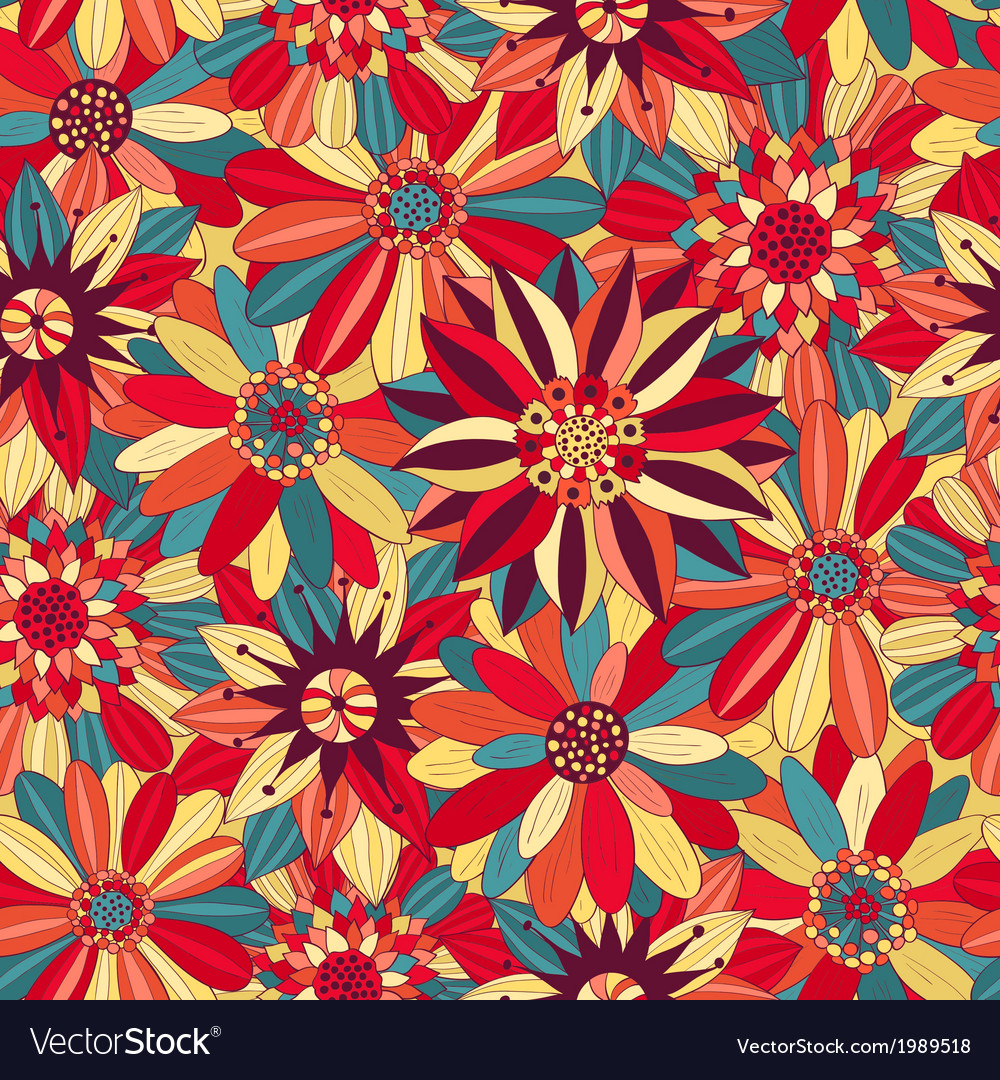 Beautiful Bright Flowers 1 Royalty Free Vector Image