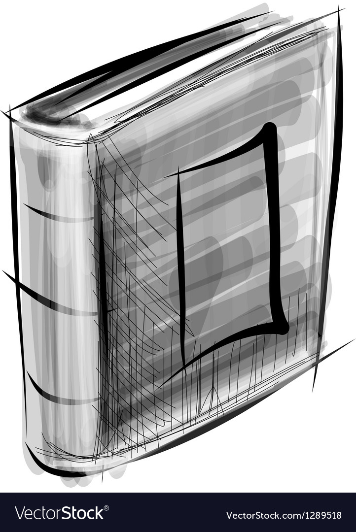 Book isolated on white sketch