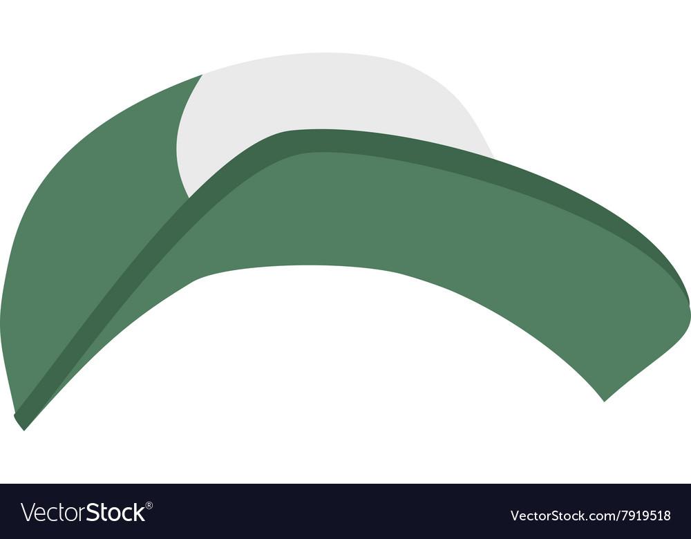Fashion sport cap cartoon flat vector image