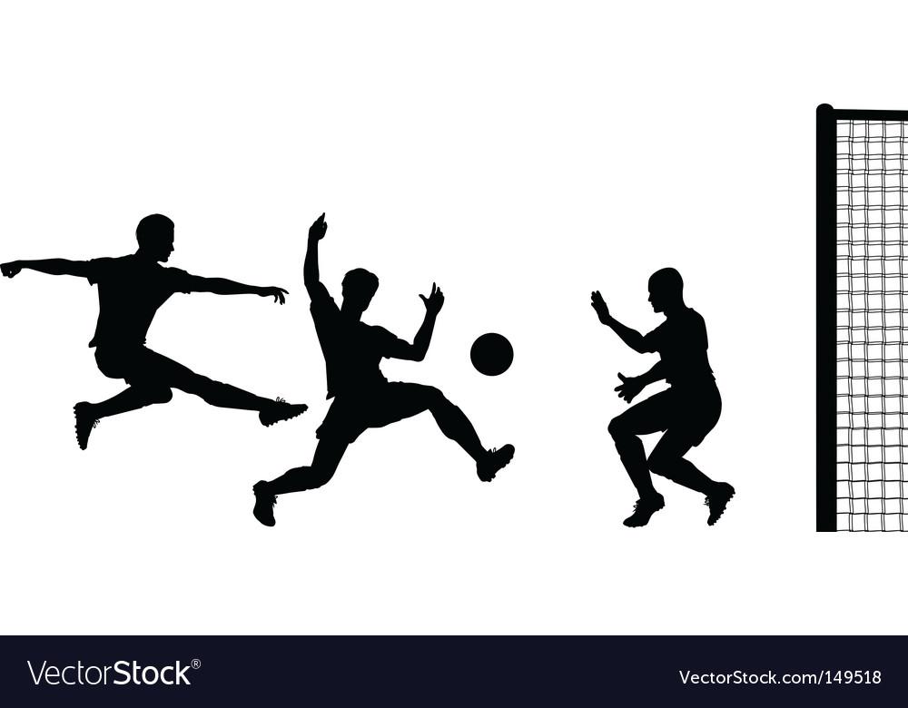 Goalmouth action vector image