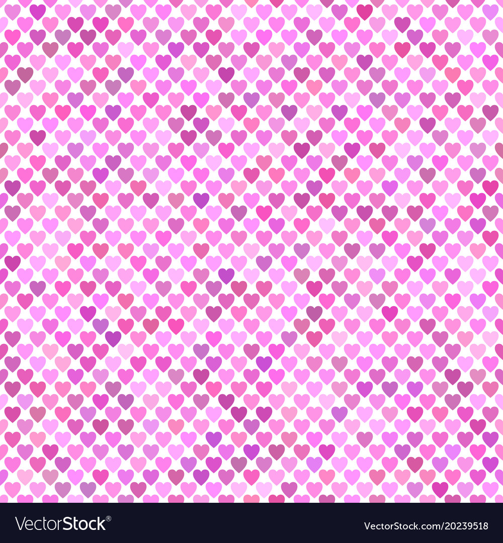 Seamless pink heart background pattern vector image
