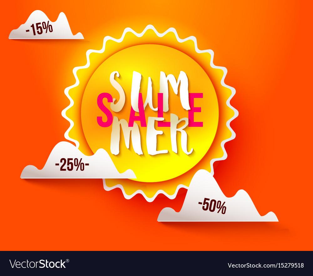 Sun paper cut summer sale