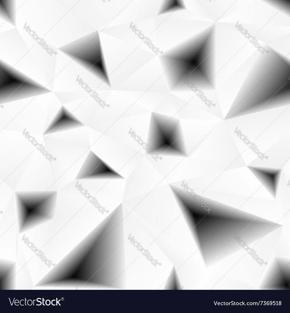 Triangular holes abstract seamless pattern vector image